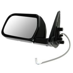 93-98 Toyota T100 Power Black w/Chrome Cap Mirror LH