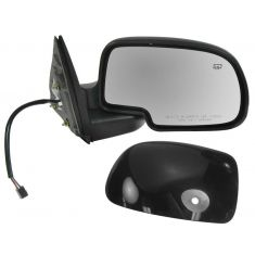 00-06 GM Truck Power Mirror Heated Pud Gloss Blk RH