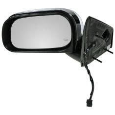 2007-09 Chrysler Aspen (GTS Code) Folding Heated Power Black/Chrome Mirror LH