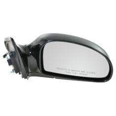 2004-09 Kia Spectra; 05-09 Spectra5 Power Heated Gloss Black Mirror RH