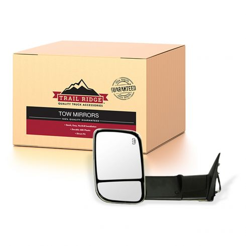 New Driver Side Chrome Towing Door Mirror For Ram 2500 2011-2012 CH1320320