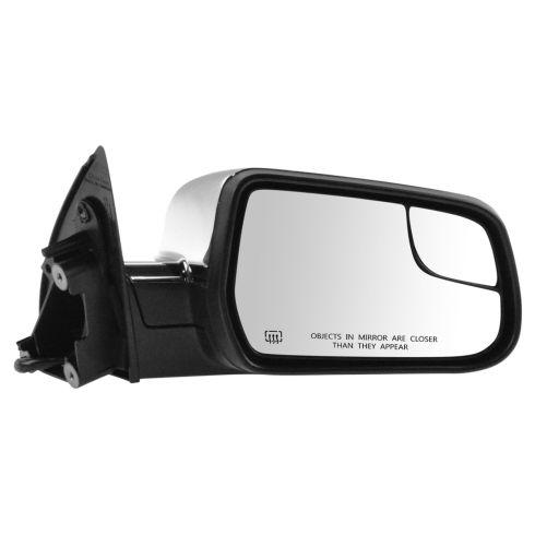 10-15 Equinox, Terrain Power Heated Textured Black w/Chrome Cap Mirror w/Convex Insert RH