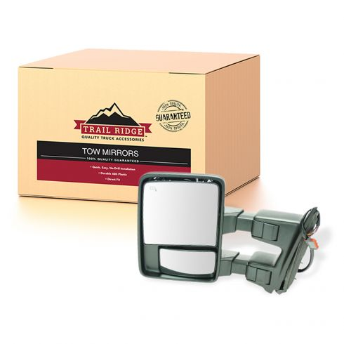 08-15 Ford SD PU Pwr Fold, Pwr Telesc Htd Smoked Turn Sig & Clrnce Lite Tow Mirror (w/o Cap) LH (TR)