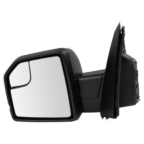 15-17 F150 Power Heated, Dual Glass, LED Turn Signal w/Dual Text Caps UPGRADE Mirror LH