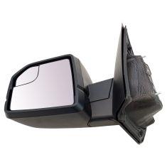 15-17 F150 Dual Glass (w/Spotter Glass) Power w/Dual Textured Caps UPGRADE Mirror LH