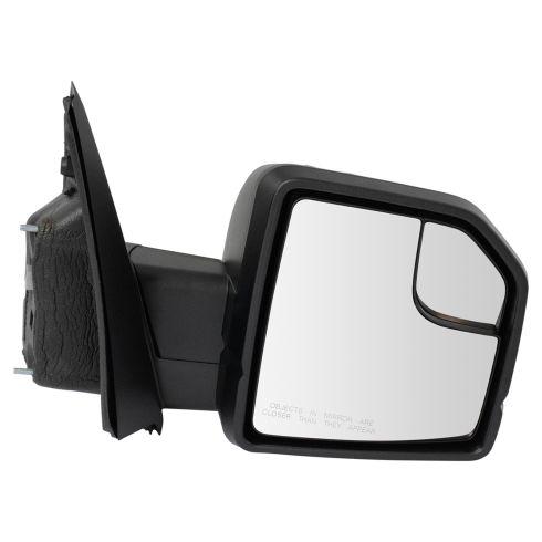 15-17 F150 Dual Glass (w/Spotter Glass) Power w/Dual Textured Caps UPGRADE Mirror RH