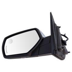 14-17 Silverado,Sierra 1500; 15-17 2500,3500 Pwr-Fold Heat Memory Signal Puddle Chrome Mirror LH