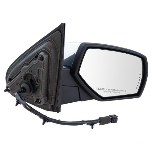 14-17 Silverado,Sierra 1500; 15-17 2500,3500 Pwr-Fold Heat Memory Signal Puddle Chrome Mirror RH