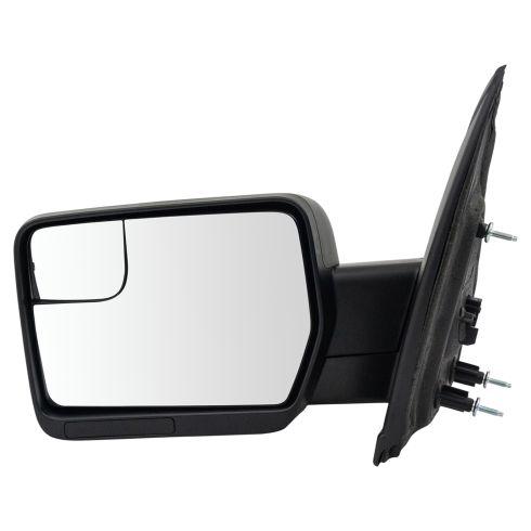 11-14 Ford F150, SVT Raptor Power w/Convex Insert & Textured Black Cap Mirror LH