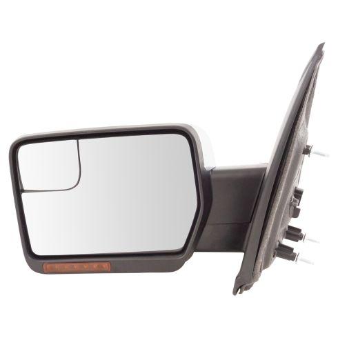 11-14 F150 Pwr Fld, Htd, Mem, w/Amber Reflector & LED Turn S, Pud L, Convex Insert w/Chrm Cap Mir LH