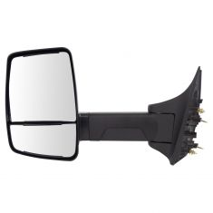 99-16 F250-F550; 00-05 Excursion (Long Arm, Dual Glass) Upgraded Manual Textured Black Mirror LH