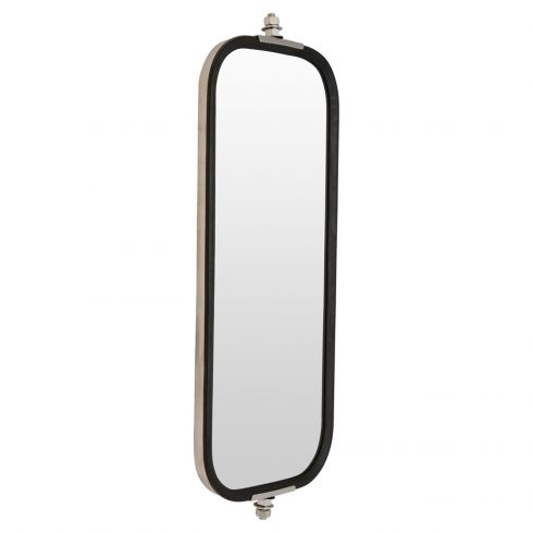 Heavy Duty Truck 16 x 7 OEM Style Ribbed Back Stainless Steel West Coast Mirror LH or RH