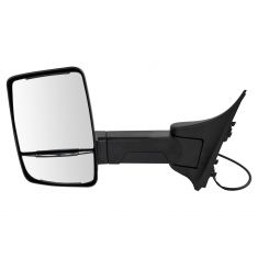 99-07 F250-F550; 00-05 Excursion (Long Arm, Dual HTD Glass) Upgraded Power Txt Blk TOW Mirror LH