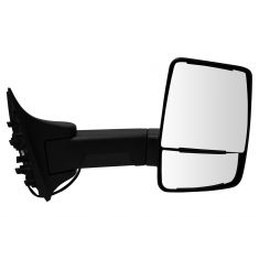 99-07 F250-F550; 00-05 Excursion (Long Arm, Dual HTD Glass) Upgraded Power Txt Blk TOW Mirror RH