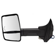08-16 F250-F550; (Long Arm, Dual HTD Glass) Upgraded Power w/LED TS Txt Blk TOW Mirror LH