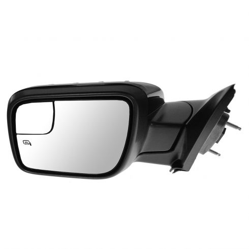 11-14 Ford Explorer Power Heated Puddle Light Turn Sign w/Spotter Glass Gloss Black Mirror LH (FORD)