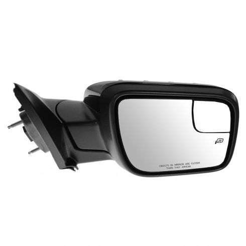 11-14 Ford Explorer Power Heated Puddle Light Turn Sign w/Spotter Glass Gloss Black Mirror RH (FORD)