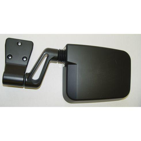 Door Mirror, Black, Left Side, 87-02 Jeep Wrangler