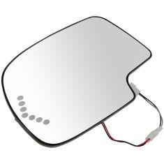 03-07 GM Full Size PU & SUV Heated Turn Signal w/ Back Plate Mirror Glass LH
