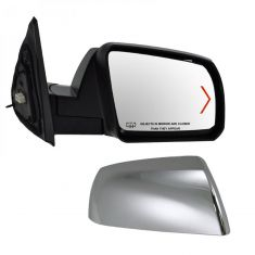 Mirror POWER HEATED with TURN SIGNAL and Chrome Cap Passenger Side