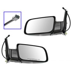 88-00 Chevy PU Power Mirror Blk Pair