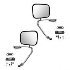 1980-96 Ford Bronco Manual Swing lock Mirror Pair