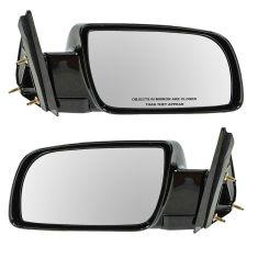 1988-01 Chevy CK Truck Manual Mirror Black Pair
