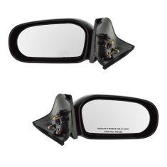 1995-99 Toyota Tercel Manual Mirror Pair