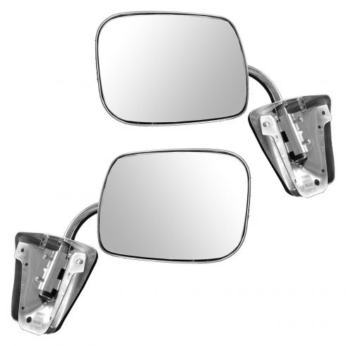 1973-91 GM Truck Manual Mirror Stainless Pair