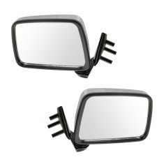 86-97 Nissan Pickup Chrome Manual Mirror Pair