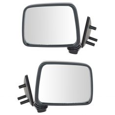 86-97 Nissan PU Truck Manual Mirror Blk Pair