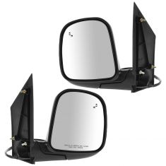 96-02 Chevy Express Van Mirror Heated Pair