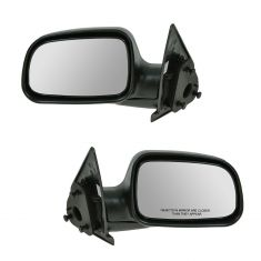99-04 Jeep Grand Cherokee Blk Text Manual Mirror Pair