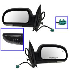 Mirror POWER HEATED Manual Folding with CLEAR TURN SIGNAL & TEXTURED FINISH PAIR