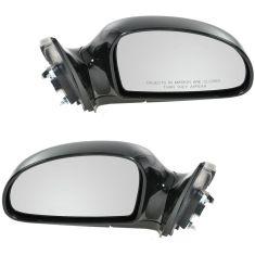 2004-09 Kia Spectra; 05-09 Spectra5 Power Heated Gloss Black Mirror PAIR