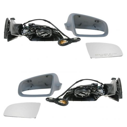 2002-08 Audi A4 Power Heated (w/o Memory) PTM Mirror PAIR