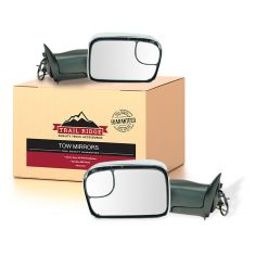 94-97 Dodge Ram 1500 2500 3500 Power TS Chrome Cap Tow (Perf Upgrade 2010 Look) Mirror PAIR (TR)