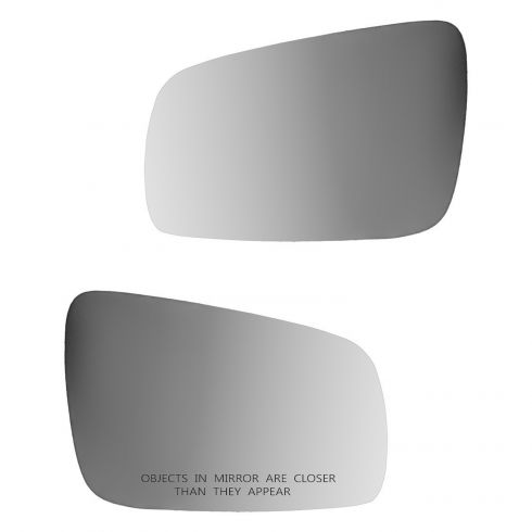 99-07 VW Jetta, Golf Clear Power Heated Mirror Glass w/Backing Plate Pair