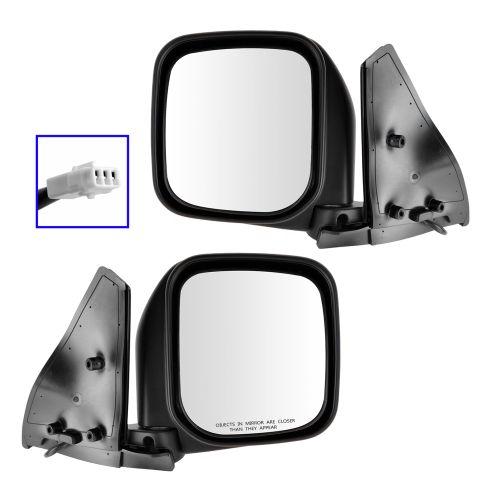92-00 Mitsubishi Montero Power Black Mirror PAIR