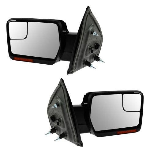 04-08 F150 Pwr Fld, Dual Htd Glass, Dual LED Turn Signl, PL, Chrm & Txt Caps Mirror PAIR (Upgrade)