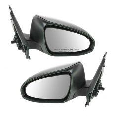 Mirrors Manual Textured Black LH /& RH Pair Set for 12-13 Toyota Yaris Hatchback