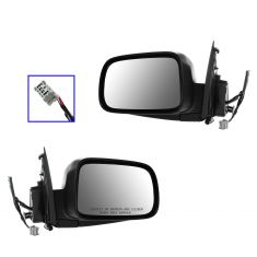 02-06 Honda CR-V Power, Heated Textured Black Mirror PAIR