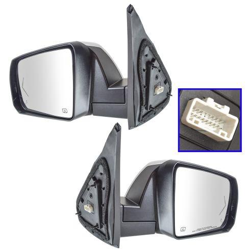 For 14-15 Tundra Pickup Truck Power Heat Chrome Folding Mirror Right Passenger