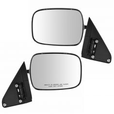 88-02 GM Full Size PU, SUV Manual Mirror w/Chrome Head PAIR