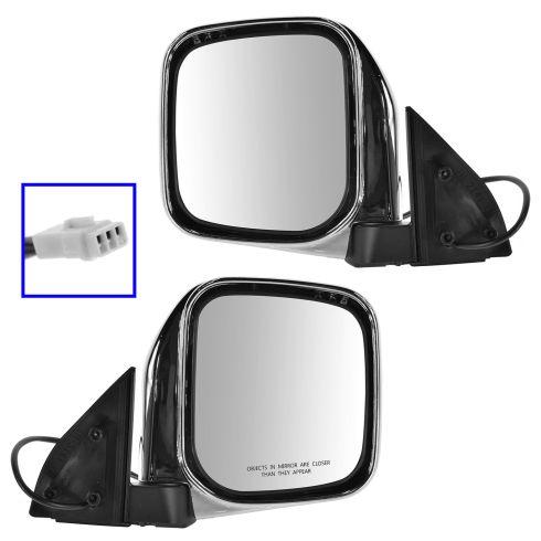 97-04 Mitsubishi Montero Sport Chrome Power Mirror PAIR