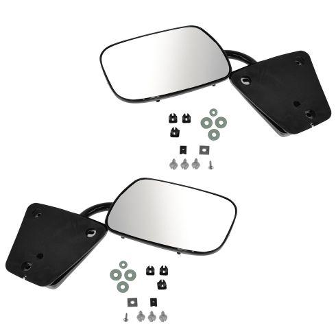 73-91 GM Truck Black Manual Mirror PAIR
