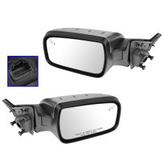 08-09 Mercury Sable Power Heated Puddle Light Satin Chrome Mirror PAIR