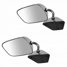 1978-96 Chevy GMC Van Stainless Manual Mirror PAIR