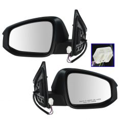 14 (frm 11/14)-15 Toyota Rav4 Power, Heated (w/Turn Signal & Blnd Spt Indictr) Mirror w/PTM Cap Pair