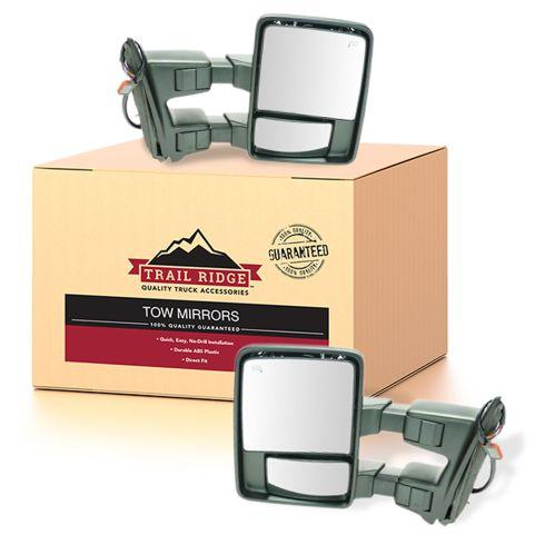 11-16 Ford SD PU Pwr Fold, Pwr Telesp, Temp Htd Smk TS & Clrnce Lite Dual Arm Tow Mir Text Cap PAIR